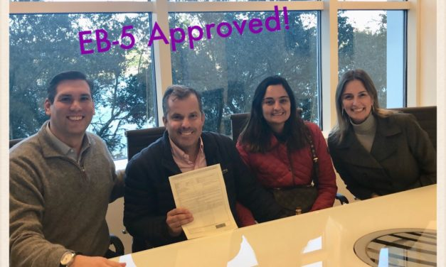EB 5 Visa Approval for Brazilian Client and his family.
