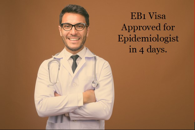 EB-1 Visa and J-1 Waiver Approved for Brazilian Epidemiologist and Infectious Disease Specialist in 4 days.