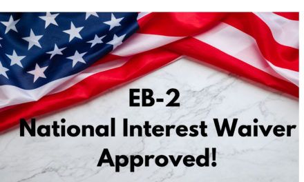 EB2 National Interest Waiver Approved for Food Safety Auditor